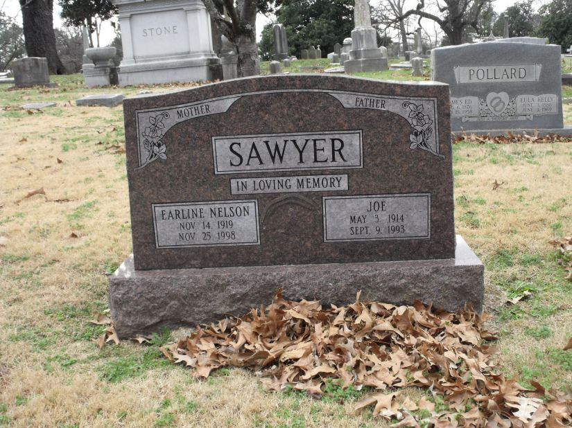 1993 - IMAGE - Sawyers, Joseph and Nelson, Earline gravestone